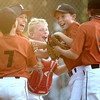 6-14-12<br /> Minor league championship between First Farmer and Bullpen<br /> First Farmer celebrates their win against bullpen during the championship game.<br /> KT photo | Kelly Lafferty