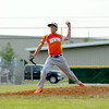 Newton Post 20's Brock Mammoser pitches against Effignham Post 120.