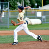 Teutopolis Post 924 pitcher Kyle Smith fires toward home during the District 23 tournament against Olney Post 30.