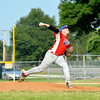 Effingham Post 120 starting pitcher Ryan Barnes pitches against Dieterich Post 128.