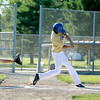 Teutopolis Post 924's Jason Kenter squares up a pitch during the District 23 tournament against South Central Post 519.