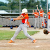 Newton Post 20's Brock Mammoser swings during a game against Effingham Post 120.