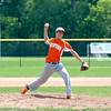 Newton Post 20's Brock Mammoser pitches during the Fifth Division Junior Legion tournament.