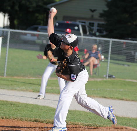 Cannon Morton throws a pitch against Highland at the state tournament on Saturday.