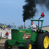 Eddie Heidrick competes in the Farm Stock class during the Illiana Truck and Tractor Pull on Monday night. He placed second in the class with a distance of 349.97 feet.