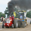 Gary Sage competes in the Outlaw Tractor Class during the Illiana Truck and Tractor Pull at the Boone County 4-H Fair on Monday.