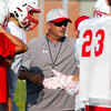 Effingham head football coach Brett Hefner directs the high school football camp in July.