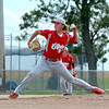 Effingham Post 120 pitcher Bryce Lohman pitches during a district tournament game against Dieterich Post 628 in Dieterich.