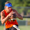 Newton quarterback Tim Weber drops back to pass at a 7-on-7 event at Newton.