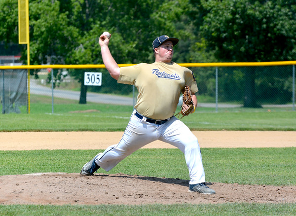 Teutopolis Post 924's Matt Koester delivers a pitch during the Divisional Tournament in West Frankfort.