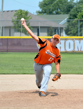 Altamont Post 512's Wyatt Vaughn pitches during the district tournament in Dieterich against Olney Post 30.