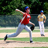 Effingham Post 120's Colby Utz pitches during the seventh inning of the junior team's win over Teutopolis Post 924.