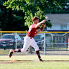 Mt. Vernon Post 141's Reed Millwood turns a double play against Effingham Post 120.