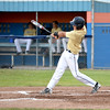 Teutopolis Post 924's Drew Thoele follows through on his swing in a win over Newton Post 20.