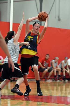 Teutopolis' Macy Michels looks to pass during the SIBC at Effingham High School.<br /> Chet Piotrowski Jr./Piotrowski Studios