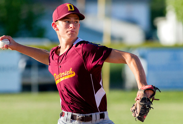 Dieterich Post 628's Paul Thoele may have thrown a gem, going all seven innings with eight strikeouts and just two earned runs, but three errors and Newton Post 20's defense proved insurmountable as Dieterich fell 6-0.