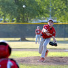 Effingham Post 120's Colby Utz throws a curveball during a game against Mt. Vernon Post 141.