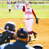 Indiana University Southeast junior Jenna Swain pitches during the second game of their double header against St. Catharine on Thursday afternoon in New Albany. IU Southeast won both games, 13-11 and 7-0. Staff photo by Christopher Fryer