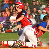 6-26-14<br /> Kasey Championship<br /> McPike's Justin Hurlock slides into home safely scoring the team's third point after Hollingsworth's Luke Lechner misses the catch to home.<br /> Kelly Lafferty | Kokomo Tribune