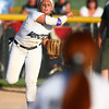 5-30-14<br /> Western Sectional softball<br /> Western's Shelby Gilbert throws the ball to first.<br /> Kelly Lafferty | Kokomo Tribune