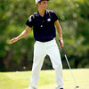 6-9-14   --- Golf Sectional.  Kokomo, Peru and Western HS. Tyler White,  WHS on hole # 9.--<br />   Tim Bath | Kokomo Tribune