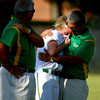 5-31-14<br /> Eastern softball sectional<br /> Eastern pitcher Abby Oyler is comforted by her coaches after the sectional loss to Elwood.<br /> Kelly Lafferty | Kokomo Tribune