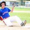 6-22-14<br /> Kokomo Glass vs. Hollingsworth Lumber<br /> Cullen Dalpots of Hollingsworth Lumber slides safely to third base.<br /> Kelly Lafferty | Kokomo Tribune