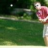 Austin Creamer chips onto the 7th green at Grandview during the Madison County Junior Golf Tour on Wednesday.