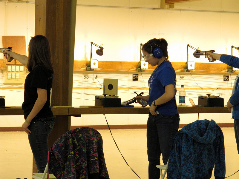 At the air pistol competition