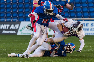 Junior Bowl 2013 - tackle on Morten Gerner Andersen nr 35
