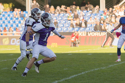 Junior Bowl 2013 - Touchdown run, Anton Witmeur nr 21, block by Jacob Berholt nr 1