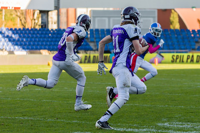 Junior Bowl 2013 - Touchdown run, Anton Witmeur nr 21, block by Andre Brou Houdet nr 30