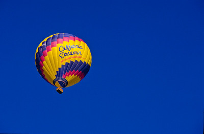 Hot air ballon.  Olivenhain, California.