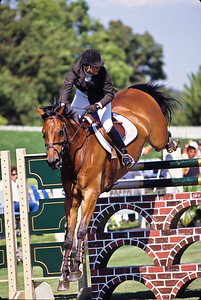 Horse jumping contest.  Del Mar, California.