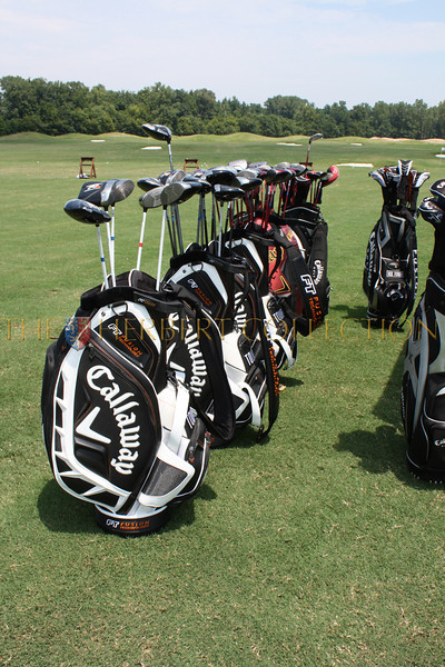 Callaway lines up their clubs for guests to enjoy