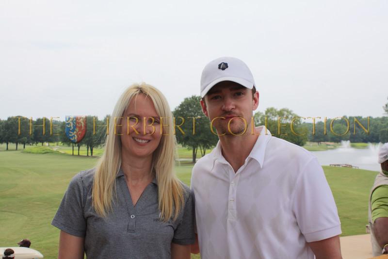 Sara Herbert-Galloway and Justin Timberlake at Mirimichi