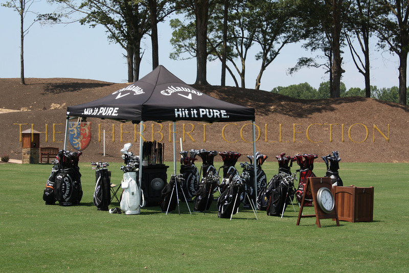 Callaway has demo clubs and instructors at the driving range on Mirimichi's opening day
