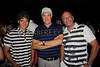 "Justin Galloway, Gary Stiffelman and Colin Dyne bring back memories of ""Jail House Rock"" at Mirimichis Golf Course opening night party. All are wearing clothing from Justin Timberlake's William Rast and Johan Lindenberg lines."