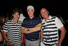 "Justin Galloway, Gary Stiffelman and Colin Dyne bring back memories of ""Jail House Rock"" at Mirimichis Golf Course opening night party. All are wearing clothing from Justin Timberlake's William Rast and Johan Lindenberg lines"