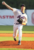 K Mets starting pitcher, #9, delivering a pitch against the Johnson City Cardinals on Wednesday. Photo by Jonathan McCoy.