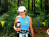 Christine Crawford on her way to her first 100-mile finish, and her first 100-mile win.