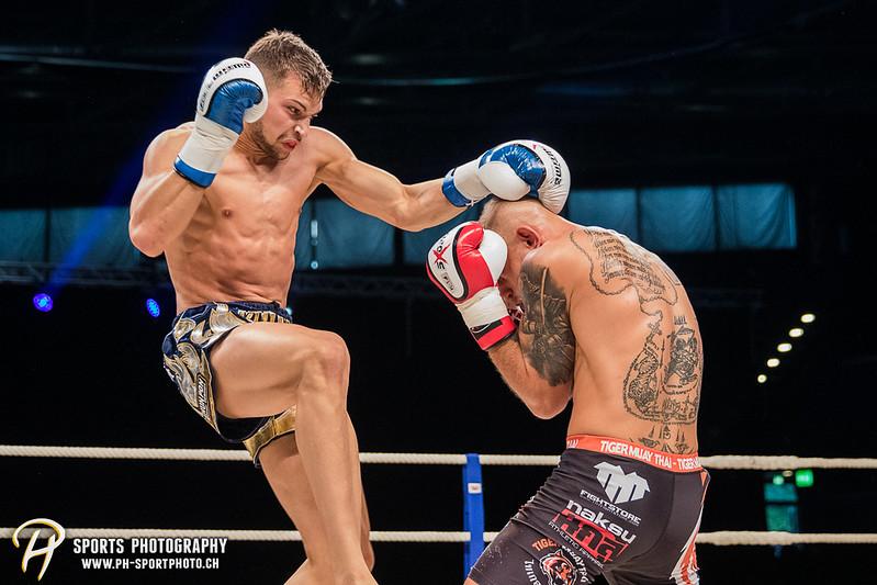 Andy Hug Memorial - K-1 bis 75 kg: Chris Lueber (SUI) vs. Philipp Haefeli (SUI) - Bild-ID: 20170610831