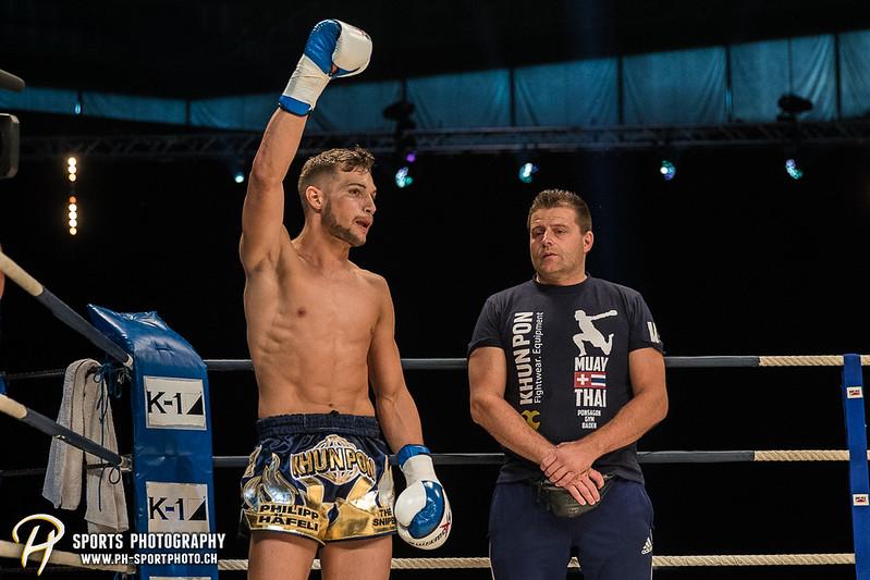 Andy Hug Memorial - K-1 bis 75 kg: Chris Lueber (SUI) vs. Philipp Haefeli (SUI) - Bild-ID: 20170610828