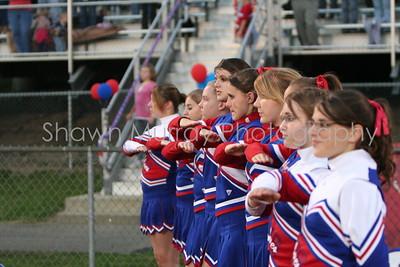 Cheerleaders salute America