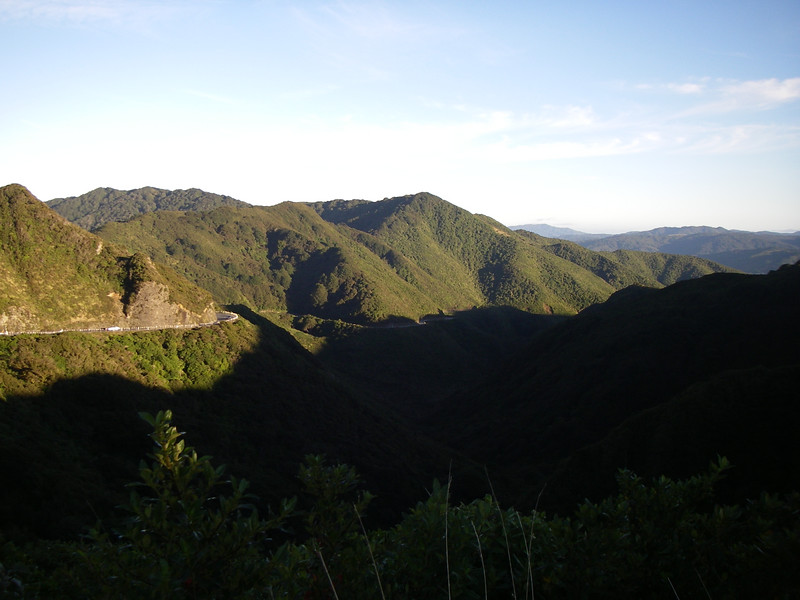 Looking south from the Rimutaka summit.