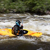 Kayaking on the Poudre River, Colorado
