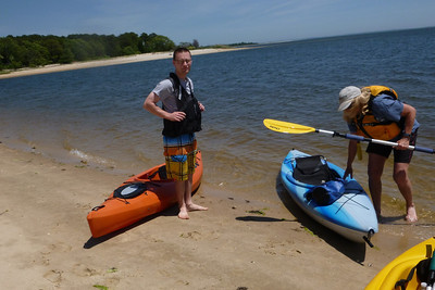 Kayaking from Indian Island County Park, Riverhead, NY.