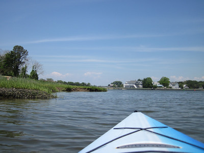 Kayaking off Indian Island County Park, Riverhead, NY.