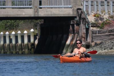 Kayaking off Towd Point Road, Southampton, NY.