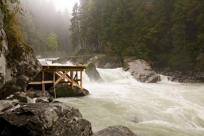 The site of the 2013 Adidas Sickline, the Wellebrucke rapids, Oetz, Austria.